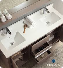 fresca allier 36 quot wenge brown modern bathroom vanity w fresca fvn8119go allier 60 gray oak modern double sink bathroom vanity