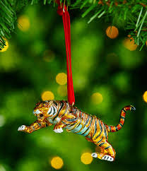 trimsetter cloisonné collection tiger ornament dillards