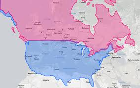 Us Canada Map A Map Of How Americans View Europe The American Catholic Big Map