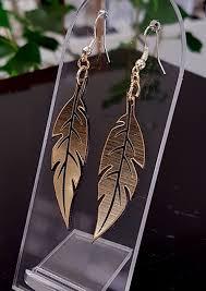 feather earrings nz black gold feather earrings 55mm x 15mm p