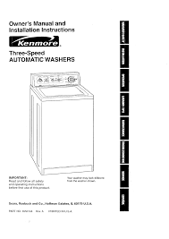 kenmore washer automatic washers user guide manualsonline com