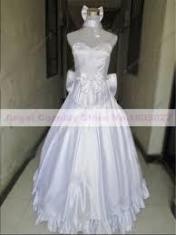 wedding dress anime anime type moon 10 years anniversary saber wedding dress