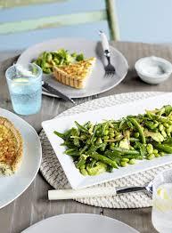 green bean edamame and avocado salad with preserved lemon