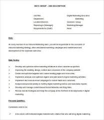 Marketing Executive Resume Samples Free by Digital Marketing Resume 7 Free Word Pdf Documents Downlaod
