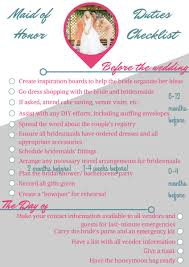 of honor planner of honor wedding checklist allfreediyweddings
