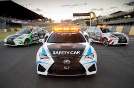 lexus racing car lexus rc f is the new v8 supercars safety car