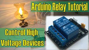 high voltage devices arduino relay tutorial