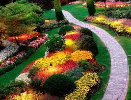 flower garden ideas sloping the garden inspirations