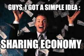 Sharing Meme - the sharing economy is about more than just trust connection