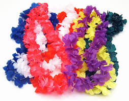 flower leis hawaiian silk flower leis luau party decoration packages
