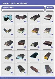 printable quizzes uk chocolate bars picture quiz round
