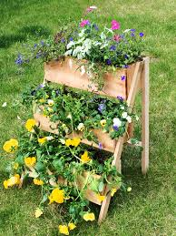 ana white 10 cedar tiered flower planter or herb garden diy