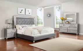 Mirrored Bed Glam 4 Piece Queen Bedroom Set Rotmans Bedroom Group Worcester