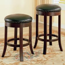 Brown Leather Bar Stool Furniture Leather Swivel Bar Stools Design With Leather Bar