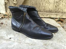 s fold boots canada womens boots discount vintage black leather fold