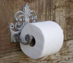 amazon com fleur de lis cast iron toilet paper roll holder cast