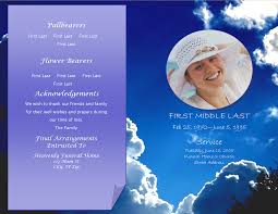 memorial service programs templates free lifecycleprints celebration of funeral program templates