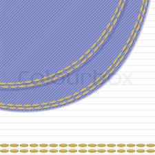background stitch white background with blue stitching tissue in the left corner