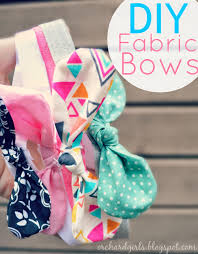 how to make girl bows diy fabric bows and headbands naaien fabric bows