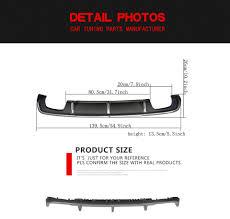 audi a3 ground clearance carbon fiber rear bumper diffuser lip fit for audi a3 8v 4door