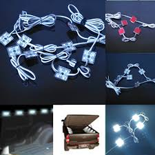 8 pcs pick up rail bed 32 white led strip lights truck bed rear