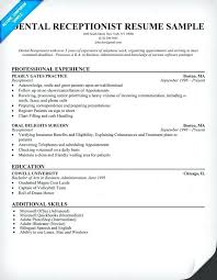 resume exles no experience exle receptionist resume dental receptionist resume exles