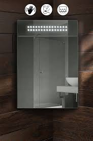 Corner Mirror Cabinet For Bathroom Panoramic Illuminated Led Bathroom Mirror Corner Cabinet My