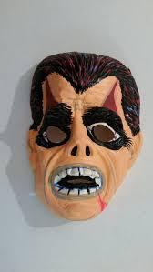 Halloween Monster Masks by Vintage Halloween Mask Molded Plastic Monster Mask 1960 U0027s