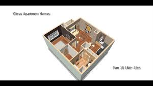 600 sq ft apartment floor plan plan 1b 1 bed 1 0 bath 600 sqft youtube
