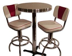 bar style table and chairs pub table sets retro bar kitchen restaurant diner usa elegant tables