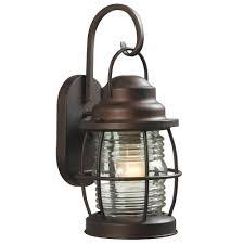 outdoor wall lantern lights home decorators collection harbor 1 light copper bronze outdoor