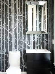 Wallpaper Bathroom Designs Black And White Wallpapers To Help You Finish Decorating