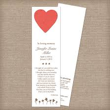 memorial bookmarks heart memorial bookmarks memorial bookmarks catalog