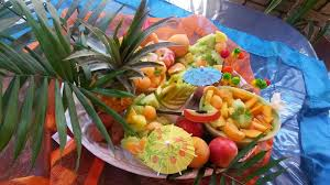 fruit decorations how to make an apple swan summer fruit platter spicy fusion