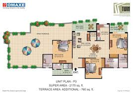floor plans twin tower omaxe waterfront allahabad