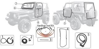fairchild industries door weatherstrip seal jcwhitney jeep wrangler tj weatherstripping seal body parts 97 06