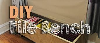 storage bench file cabinet diy file bench pins and procrastination