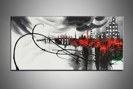 hand painted large canvas wall art black white abstract oil painting on canvas for dining room paintings free