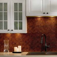 Copper Kitchen Backsplash by Fasade Backsplash Terrain In Moonstone Copper