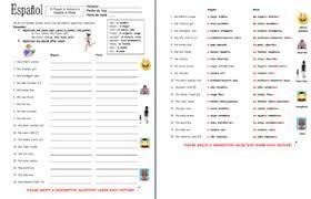 adjectives u0026 people worksheet number u0026 gender agreement