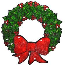 lighted christmas wreath lighted sided shimmering christmas