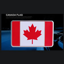 Cool National Flags 1pc Free Shipping Canada Car National Flag Sticker Rectangle Cool