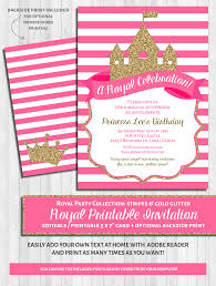 office depot invitations printing princess party invitations bright pink and gold glitter u2013 wonderbash