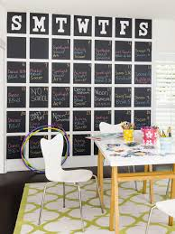 how to make a giant chalkboard calendar hgtv