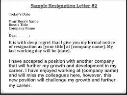 example of resignation letter resignation letter format very