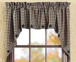 kitchen window valance ideas contemporary window valance ideas new primitive country black tan