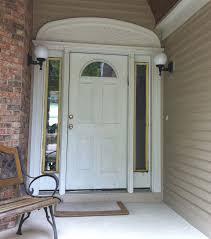 modern front door with sidelites hanging curtain for front door
