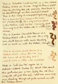 brown writing paper four brown inks on four types of paper ink comparisons the 5003 verge ivory jpg