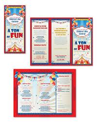 kids carnival day tri fold brochure template brochure