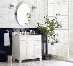 Pivot Bathroom Mirror Kensington Pivot Oval Mirror Pottery Barn